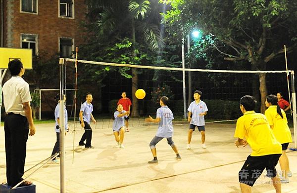 户外拓展训练--气排球比赛高清图片